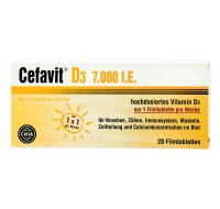 Cefavit D3 7.000 j.m.  1 tabletka tygodniowo