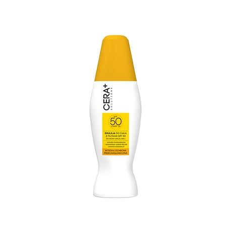Emulsja do ciała z filtrami SPF 50 do skóry wrażliwej, 150 ml Cera Plus Solutions