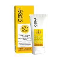 Krem z wysoką ochroną przeciwsłoneczną UVA/UVB SPF 50, skóra sucha i wrażliwa, 50 ml Cera Plus Solution